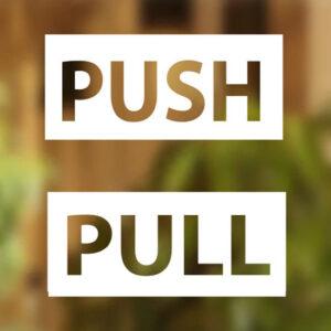 Pull-Push-Door-Stickers-Shop-Window-Salon-Bar-Cafe-Restaurant-Office-Vinyl-Sign-262385331033