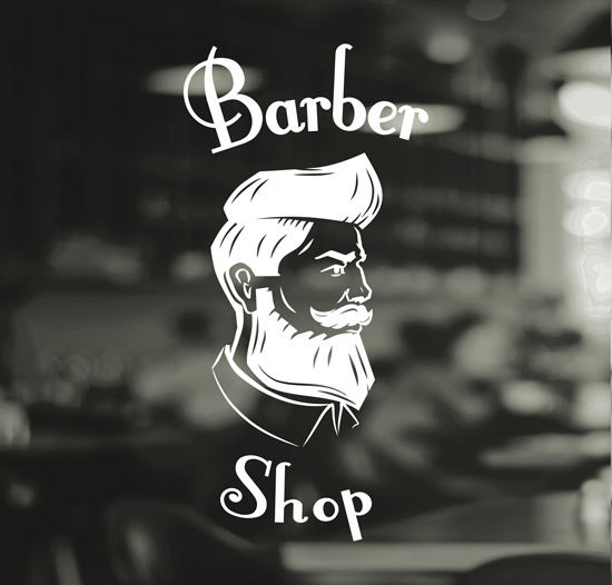 Barber-Shop-Gentlemens-Hair-Men-Salon-Window-Vinyl-Sign-Sticker-Lettering-Beauty-252376101204