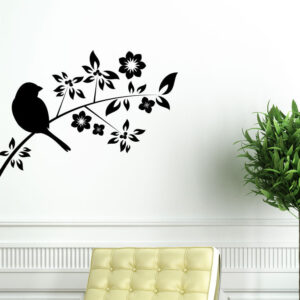 Bird-on-Tree-Branch-Wall-Vinyl-Sticker-Decal-Livingroom-Children-Mural-Art-262602030984