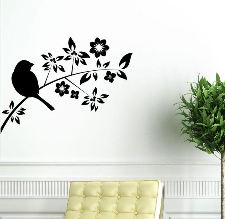Bird-on-Tree-Branch-Wall-Vinyl-Sticker-Decal-Livingroom-Children-Mural-Art-262602030984