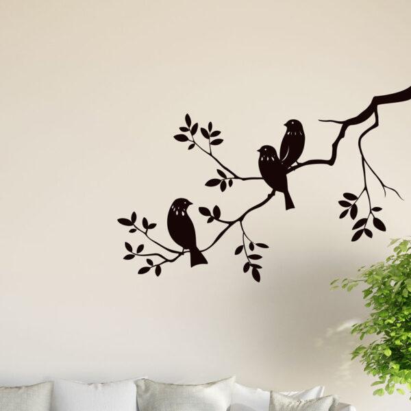 Birds-on-Tree-Branch-Wall-Vinyl-Sticker-Decal-Livingroom-Children-Mural-Art-Hall-262606126544