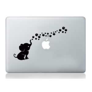 Elephant-macbook-decal-vinyl-sticker-mural-christmas-kids-children-art-animal-252857862574