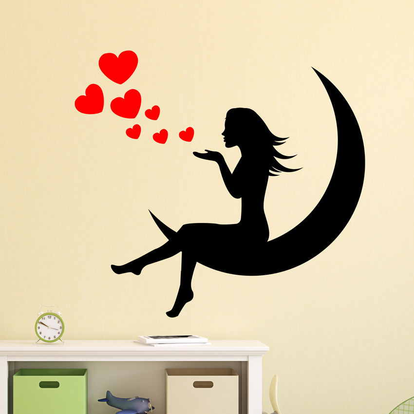 Girl hearts princess wall decal nursery vinyl sticker for Mural alternatywy 4