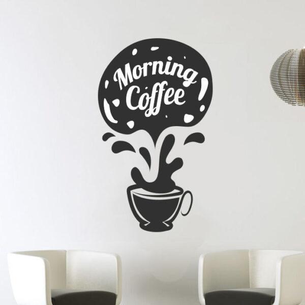 Morning-Coffee-Cups-Kitchen-Wall-Tea-Sticker-Vinyl-Decal-Art-Restaurant-Pub-Deco-262319592314