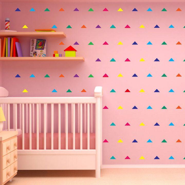 Polka-Triangles-Wall-Stickers-Decal-Kid-Vinyl-Art-home-Decor-spots-Mural-240pcs-253728221914
