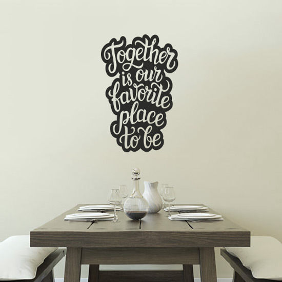 Wall-Art-Kitchen-Lounge-Tea-Sticker-Vinyl-Decal-Restaurant-Pub-Decor-Together-is-262400284214
