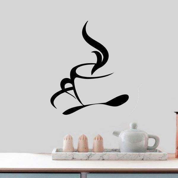 coffee cups kitchen wall tea sticker vinyl decal art restaurant pub