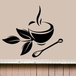 Coffee-Tea-Cup-Kitchen-Retro-Wall-Sticker-Vinyl-Decal-Art-Restaurant-Pub-Decor-262478324715