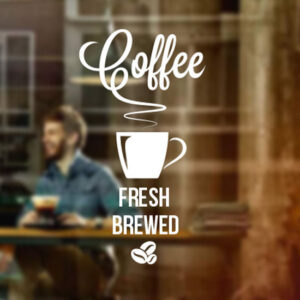Fresh-Brewed-Coffee-Takeaway-Cafe-Shop-vinyl-sticker-Window-sign-decoration-art-252345936705