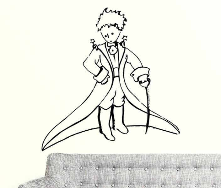 Little-prince-wall-decal-vinyl-sticker-christmas-kids-children-art-silhouette-252249479535