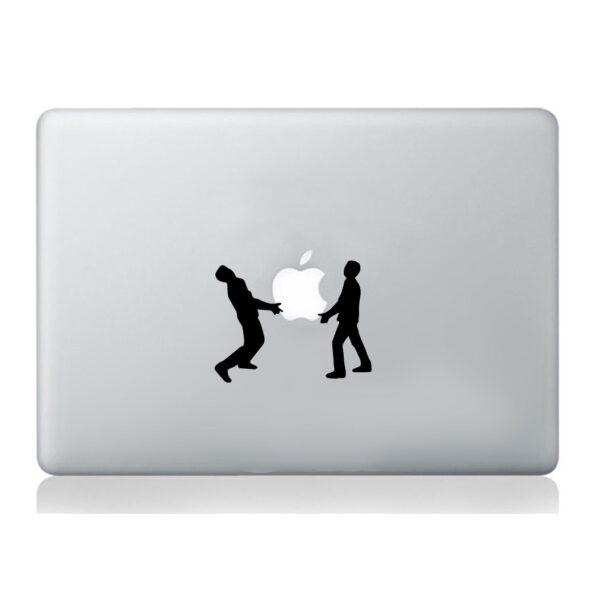 Men-holding-Apple-sticker-laptop-macbook-decal-art-mural-silhouette-decoration-252861182505