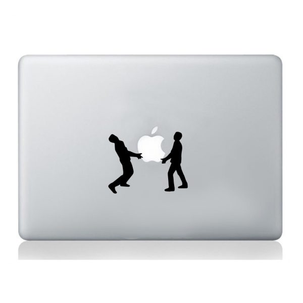 Men-holding-Apple-sticker-laptop-macbook-decal-art-mural-silhouette-decoration-252861182505