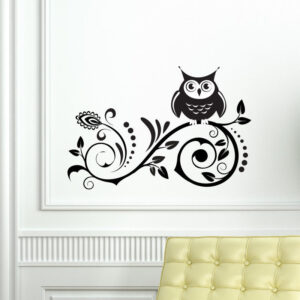 Owl-on-Tree-Wall-Vinyl-Sticker-Decal-Livingroom-Children-Mural-Art-Nursery-Hall-262598685645