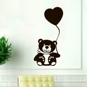 Teddy-Bear-wall-art-decal-nursery-vinyl-sticker-decor-christmas-kids-children-252421462365