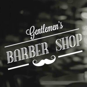 Barber-Shop-Gentlemen-Hair-Men-Salon-Window-Vinyl-Sign-Sticker-Lettering-Beauty-252882864606