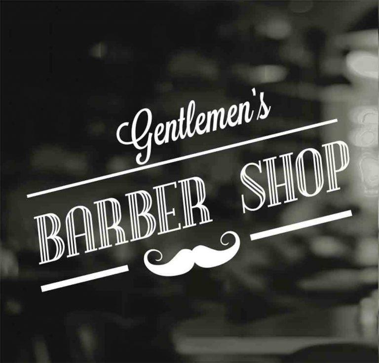 Barber Shop Gentlemen Hair Men Salon Window Vinyl Sign ...