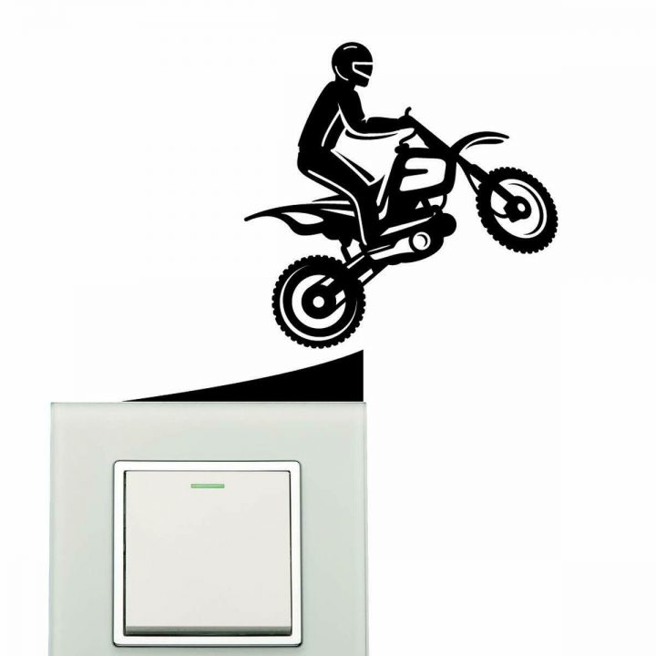 Bike-Motorcycle-Riding-Wall-Sticker-plate-light-switch-socket-Wall-Sticker-Viny-264388699626