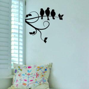 Birds-on-Tree-Wall-Vinyl-Sticker-Decal-Livingroom-Children-Mural-Art-252424798336