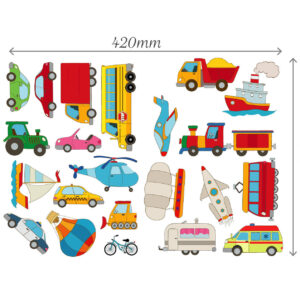 Cars-Transport-Learning-Wall-Stickers-Kids-Decals-Cartoon-Bus-Plane-Art-Games-263118867096