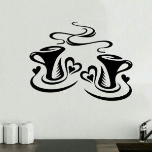 Coffee-Cups-Kitchen-Sticker-Wall-Tea-Vinyl-Decal-Art-Restaurant-Pub-Decor-Love-263098616866