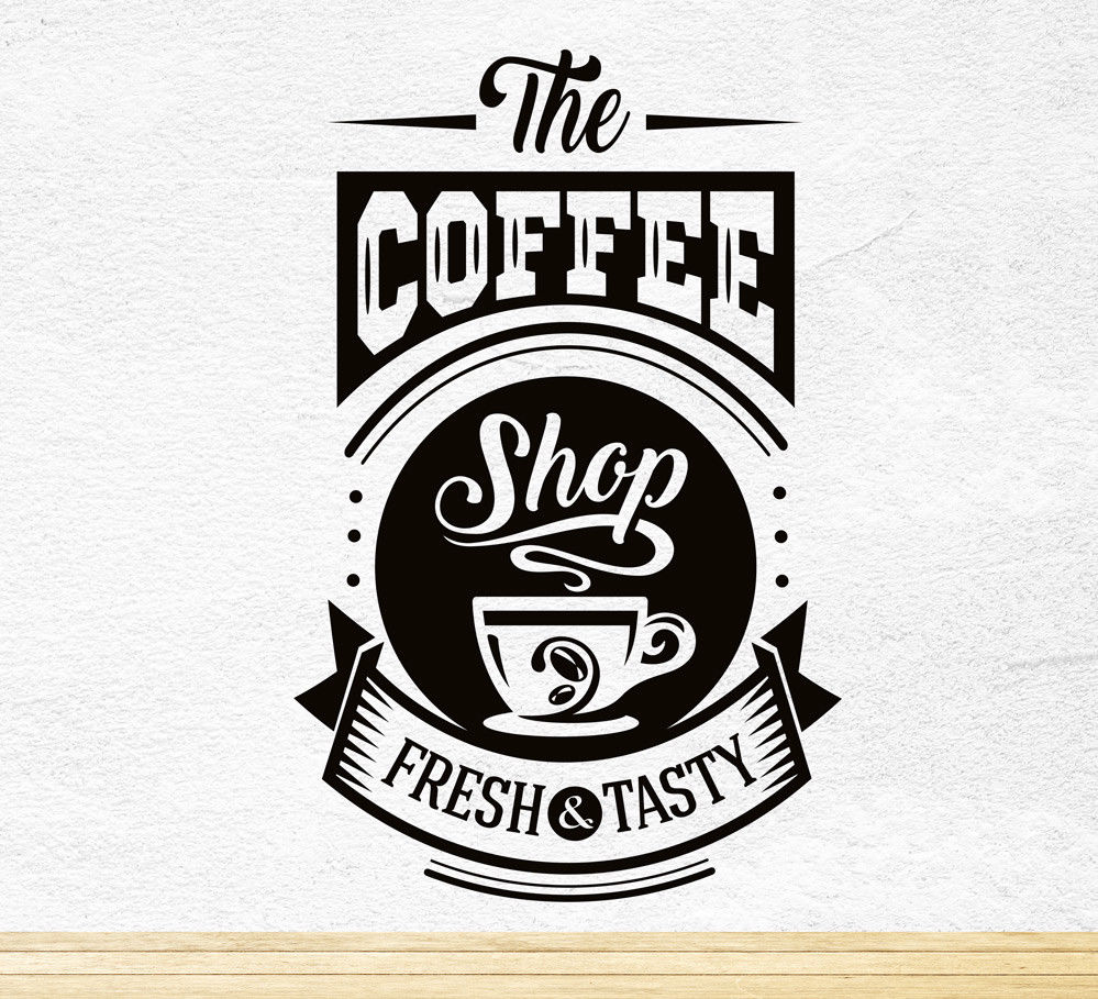 Coffee Fresh Tasty Kitchen Wall Sticker Vinyl Decal Art