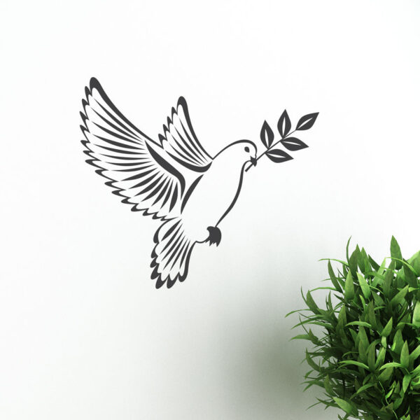 Dove-of-peace-With-Olive-Branch-Sticker-vector-image-Birds-Peace-Vinyl-Wall-Art-262609440356