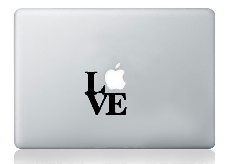 Love lettering mac stickers apple macbook laptop decal