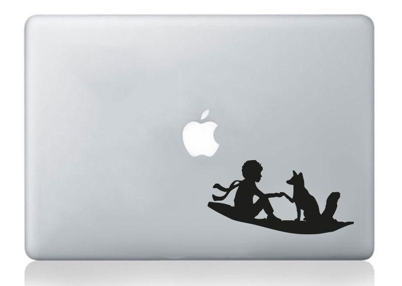 Little Prince Petit Silhouette Macbook Laptop Mac Decal Vinyl
