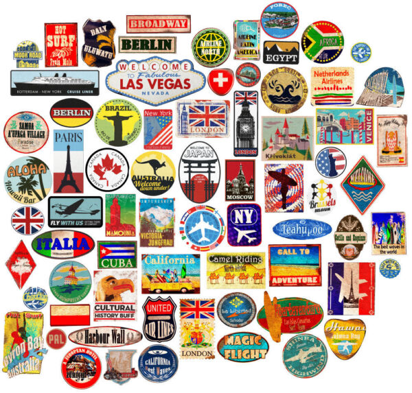 Luggage-stickers-suitcase-patches-vintage-travel-labels-retro-style-vinyl-decals-253861359056