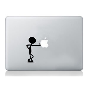 Man-pushing-Apple-stickers-macbook-laptop-decal-art-graphic-vinyl-funny-mural-262934440816