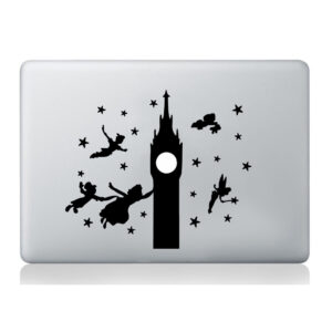Peter-Pan-Big-Ben-Sticker-Silhouette-Macbook-Laptop-Decal-Vinyl-Skin-Mural-Art-252858810896