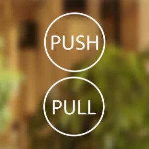 Pull-Push-Door-12cm-Stickers-Shop-Window-Salon-Cafe-Restaurant-Office-Vinyl-Sign-262050297196