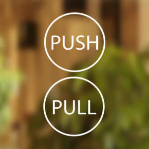 Pull-Push-Door-6cm-Stickers-Shop-Window-Salon-Cafe-Restaurant-Office-Vinyl-Sign-262397307976