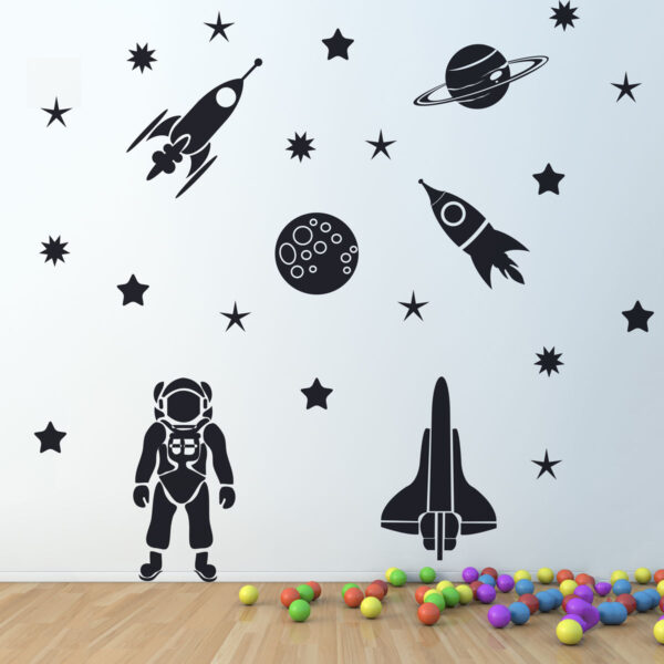Rocket-Space-Ship-cosmonaut-Vinyl-Wall-Sticker-Decor-Decal-Mural-Kids-Children-253031313246