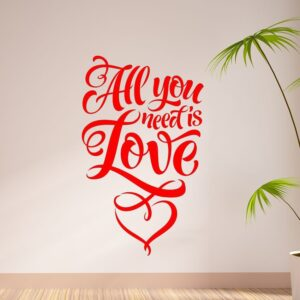 All-you-need-is-love-wall-art-decal-decoration-vinyl-sticker-mural-quote-saying-262598696187