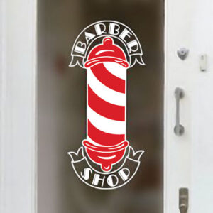 Barbers-Pole-Shop-Vinyl-Sign-Hairdressers-Hair-Salon-Window-Lettering-Sticker-252095181917
