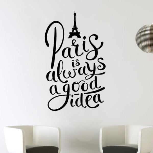 Paris-AlwaysGood-Idea-Eiffel-tower-love-wall-art-decal-decoration-vinyl-sticker-262325568147