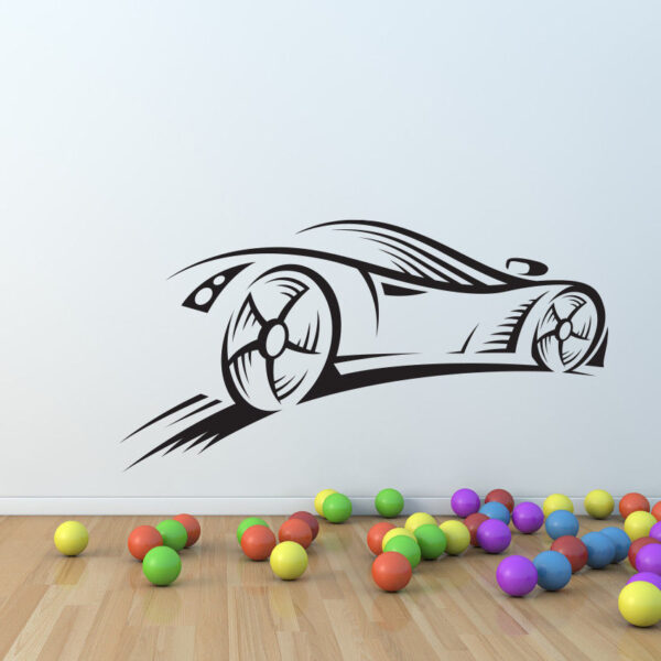Sport-Car-race-speed-wall-decal-nursery-vinyl-sticker-mural-decor-kids-children-262602125857