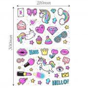 Unicorn-stickers-girls-kids-laptop-children-Scrapbook-diary-album-decals-nursery-253211458067