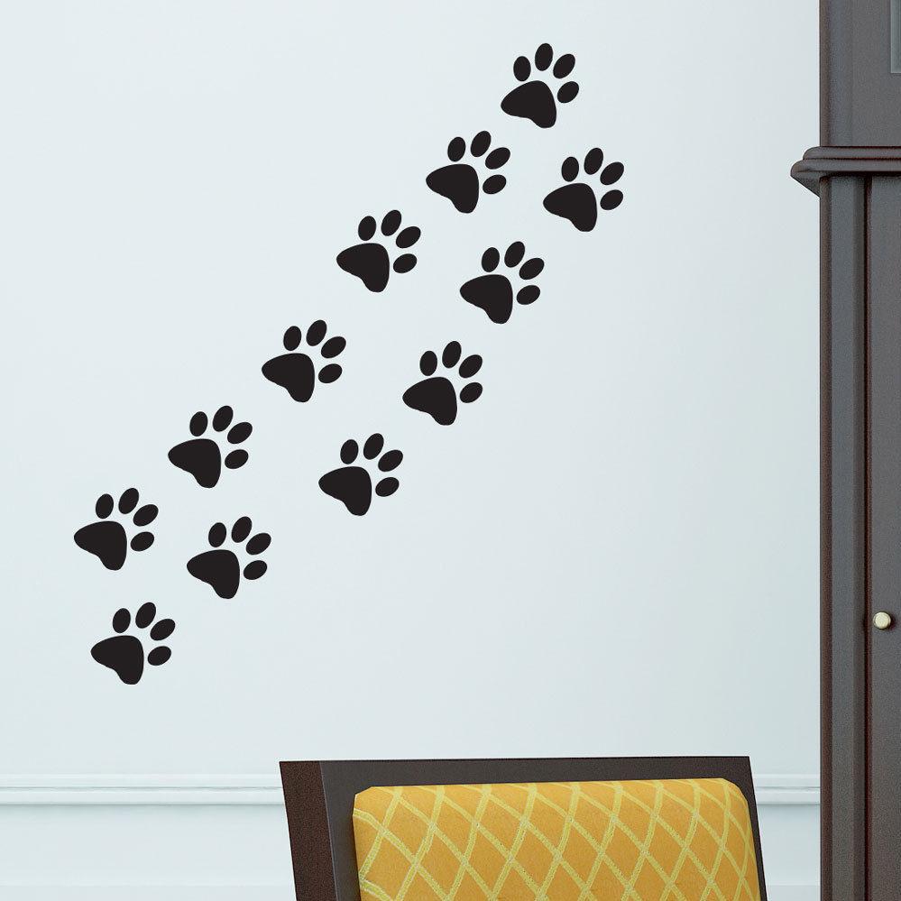 9298b147e07 Cat paws dog home Vinyl Wall Sticker Decor Decal Mural KItchen Pet ...