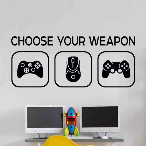 Choose-weapon-Wall-Sticker-Mural-Vinyl-Decal-Children-room-gamers-art-teenager-253018518928