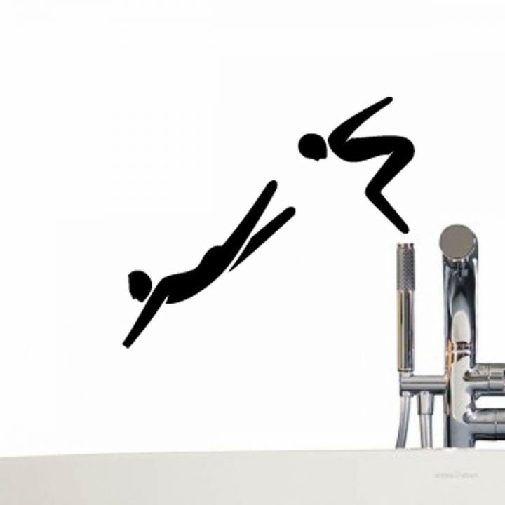 Divers-jumping-bathroom-toilet-Wall-Sticker-plate-light-switch-socket-Wall-Stick-254286921238