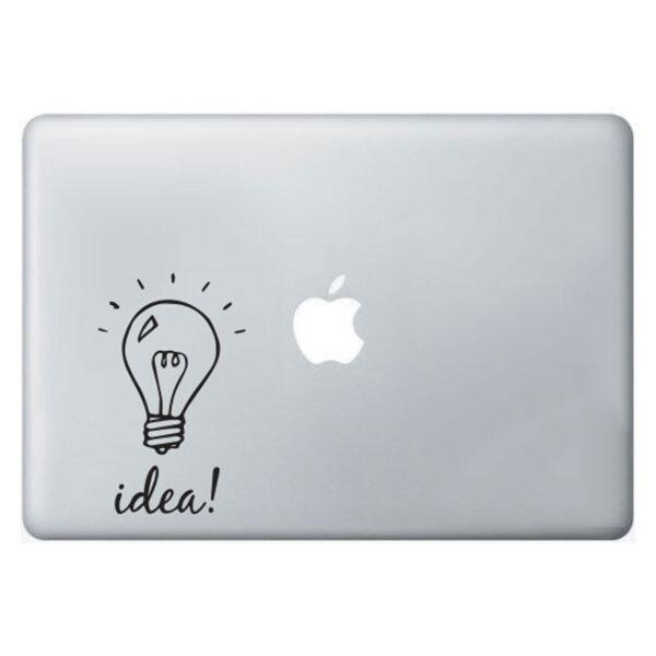 Light-bulb-idea-sticker-apple-macbook-laptop-decal-art-graphic-vinyl-funny-mural-262819672968