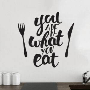 You-are-what-you-eat-Kitchen-Wall-Decor-Vinyl-Sticker-Decal-Mural-Art-Decoration-252534029868