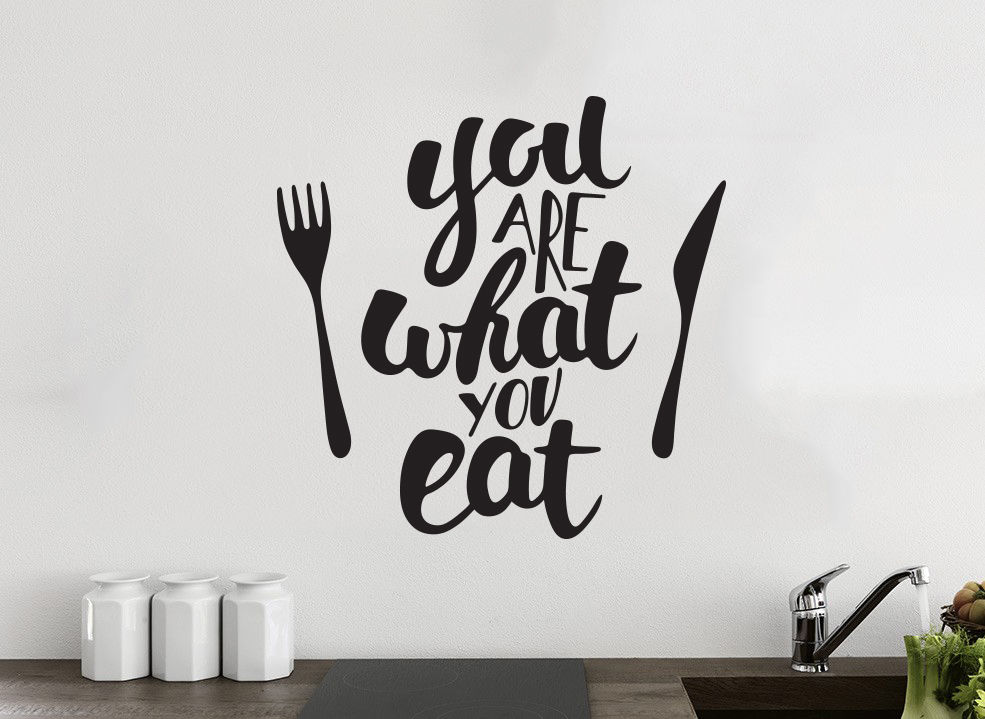 you are what you eat kitchen wall decor vinyl sticker decal mural art