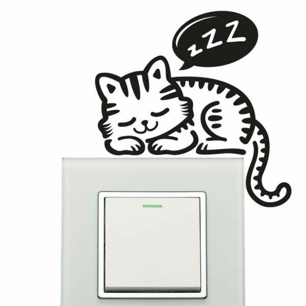 Cat-Wall-Sticker-plate-light-switch-socket-Wall-Sticker-Vinyl-Decal-Mural-home-d-254286876539