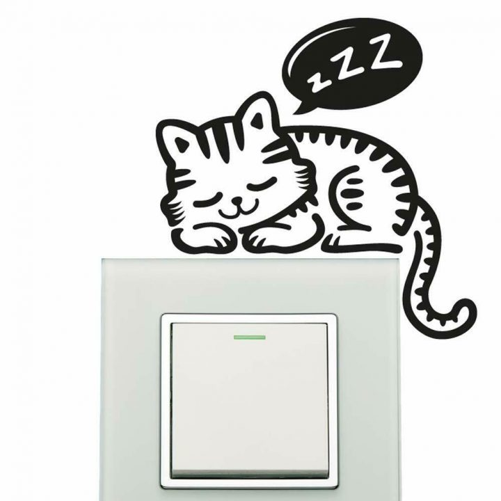 Cat-Wall-Sticker-plate-light-switch-socket-Wall-Sticker-Vinyl-Decal-Mural-home-d-254286876539