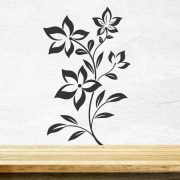 Flowers-Wall-Sticker-Floral-Vinyl-Decal-Art-Decoration-Graphics-Wallpaper-Decor-262938245469