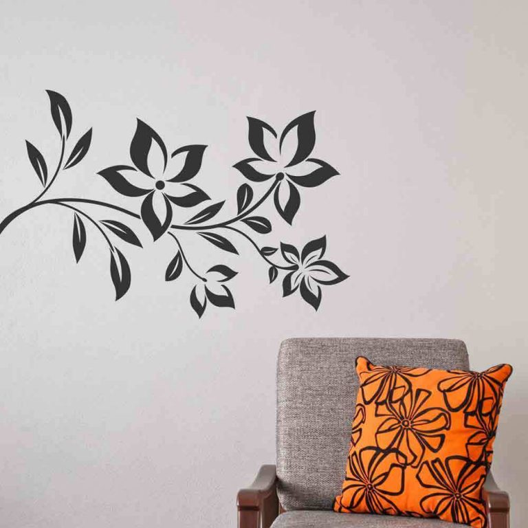 Flowers Wall Sticker Floral Vinyl Decal Art Decoration