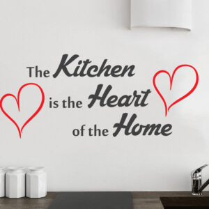 Kitchen-Heart-Of-The-Home-Wall-Quote-Vinyl-Sticker-Decal-Decor-Love-Art-Mural-252244171229